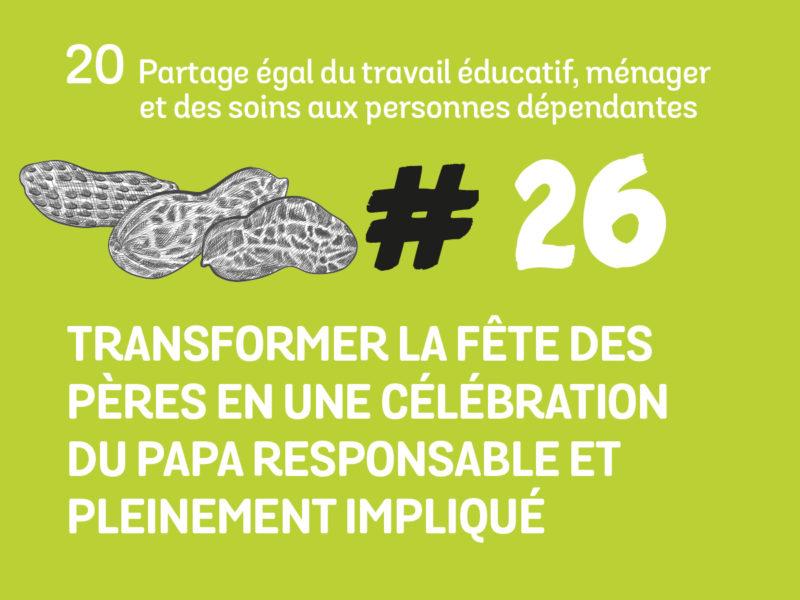 26 Transformer la fêtes des pèresen une célébration du papa responsable et pleinement impliqué