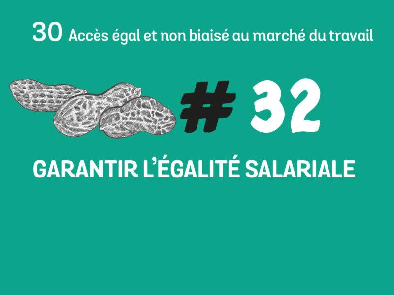 32 Garantir l'égalité salariale